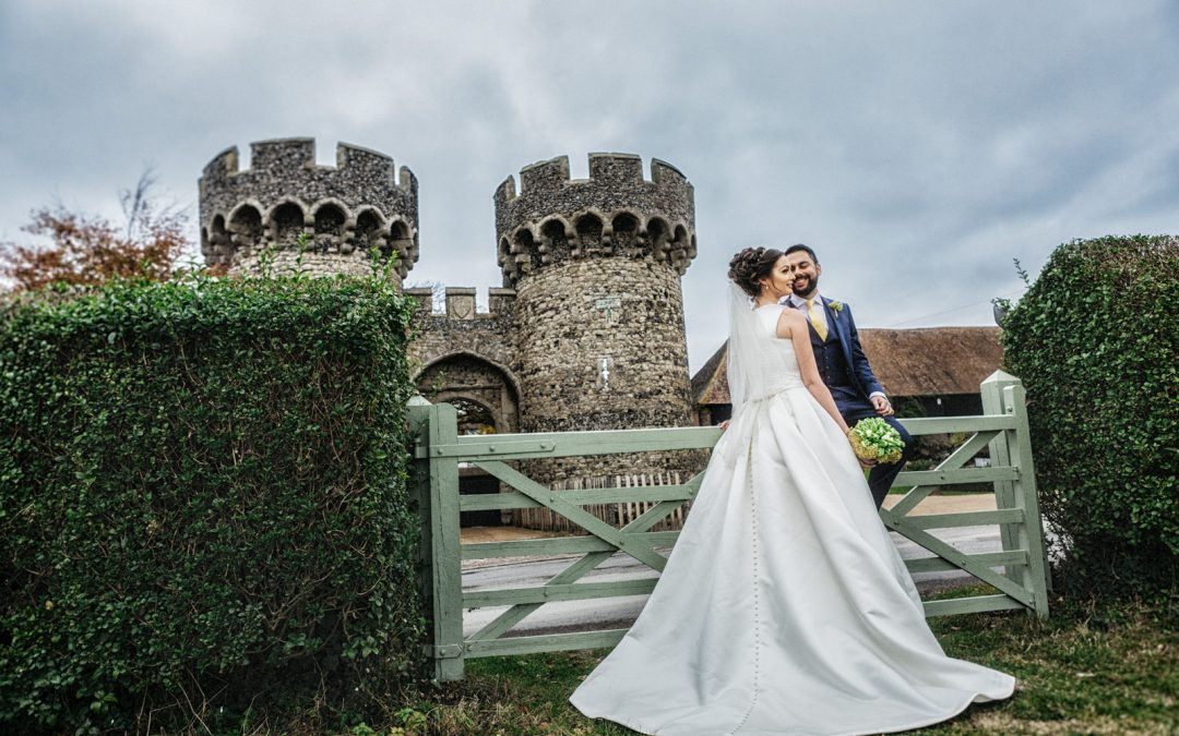 Charlotte & Varun, Cooling Castle, Kent