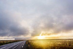 Iceland prewedding sunset